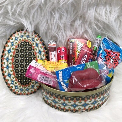 Oval Tin w/ Vintage Inspired Candy