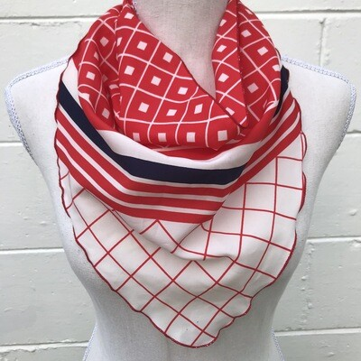 Red & Black Bandana Scarf