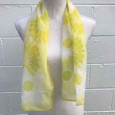 Yellow Floral Scarf/Belt