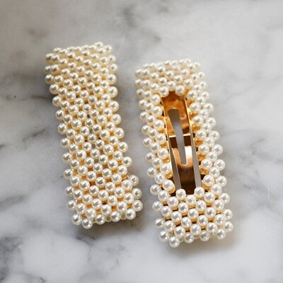 Pearl Hair Clips - Set of 2