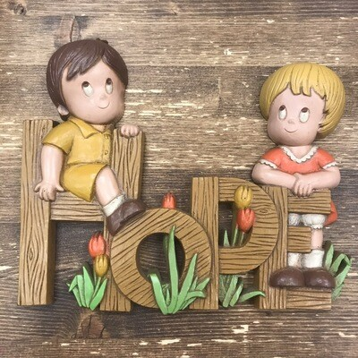 1980s HOPE Wall Plaque