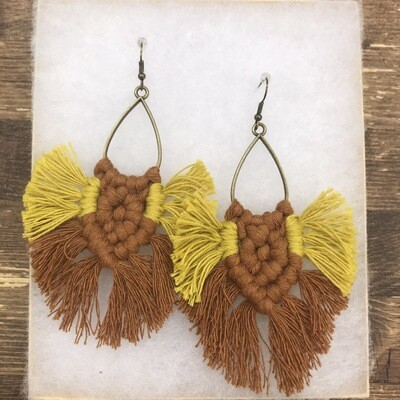 Macrame Earrings From 317 Knot Studio