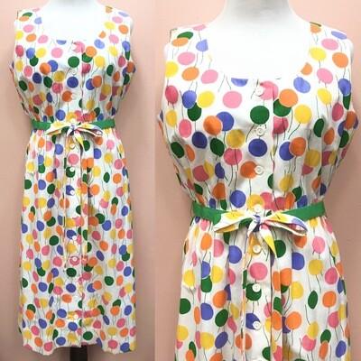 Vintage Balloon Print Dress