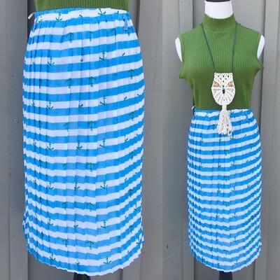 Pleated Anchor Skirt