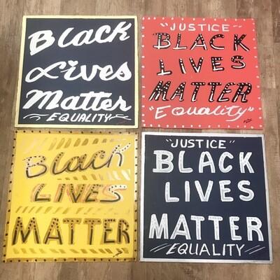 Brush Master Black Lives Matter Sign- Large
