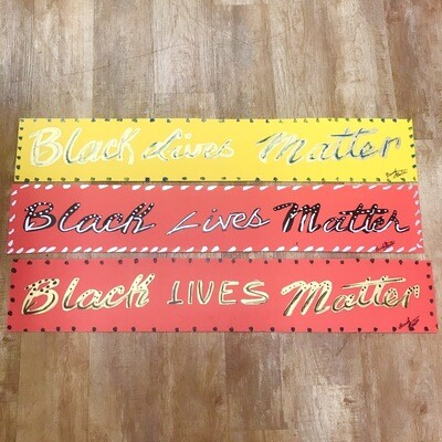 Brush Master Black Lives Matter Yard Sign- Long
