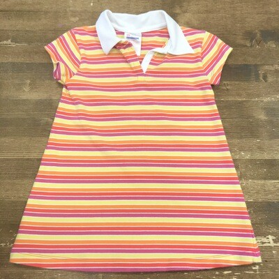 90s Collared Striped Kids Dress | Size 24 months