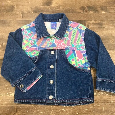 90s Denim Patchwork Kids Jacket | Size 4T