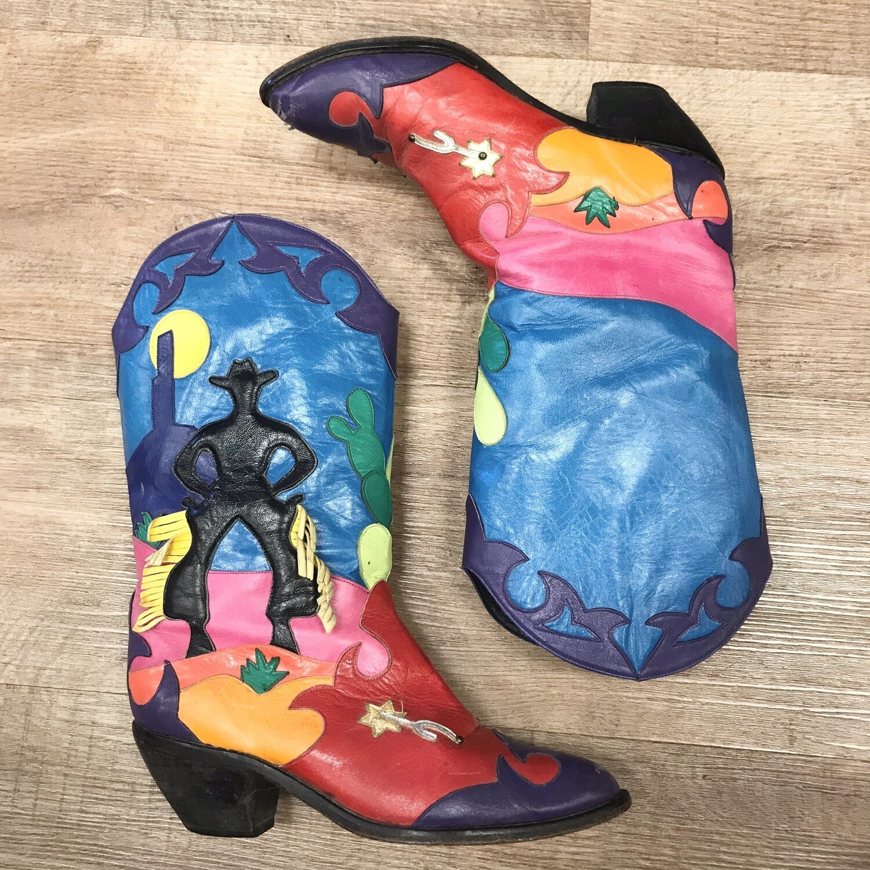 Colorful De-Ettes Cowboy Boots