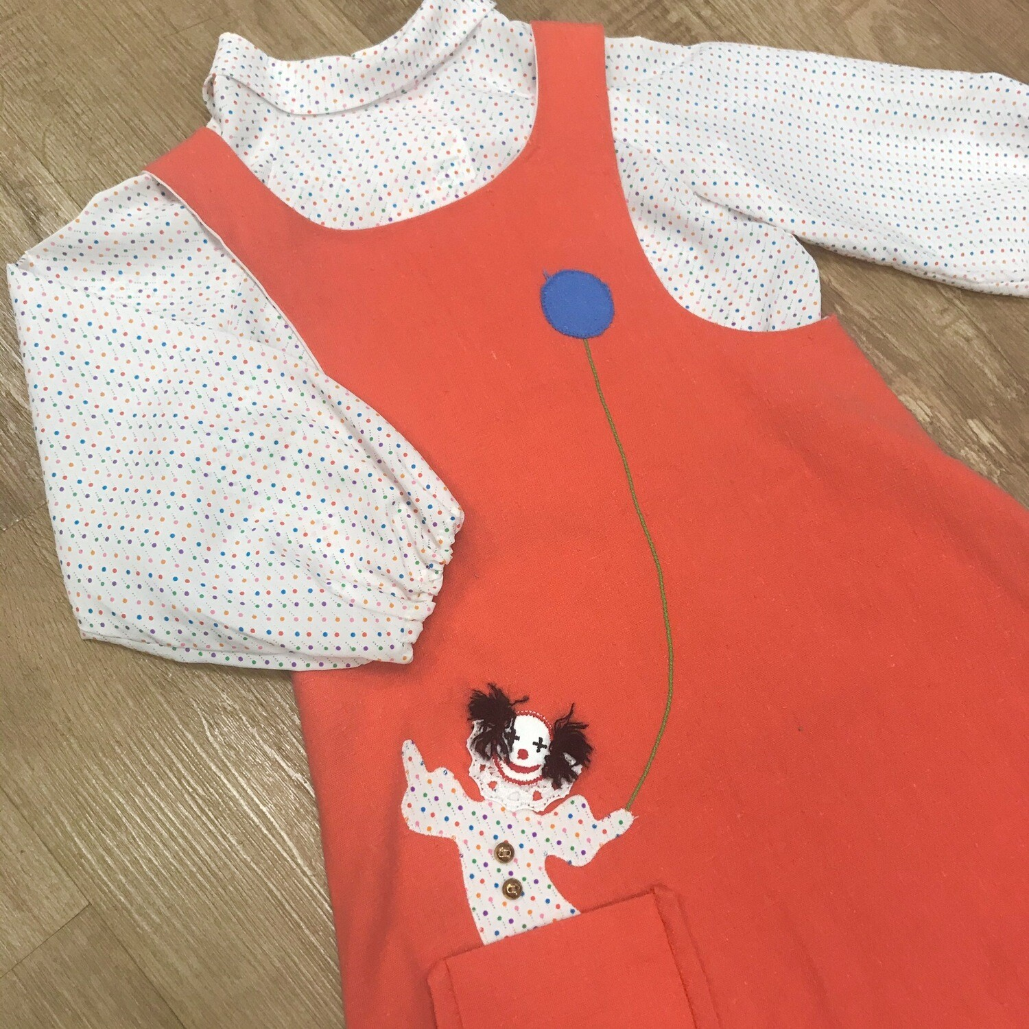 2 Piece Clown Dress/Blouse | Size 6