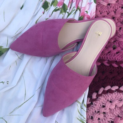 Pink Pointed Toe Mules