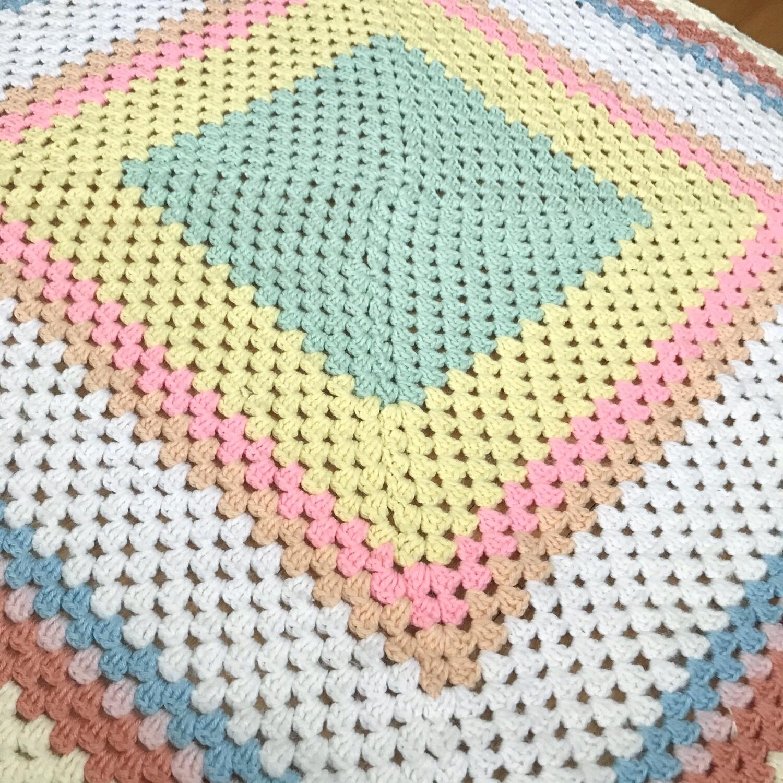 Pastel Afghan Blanket