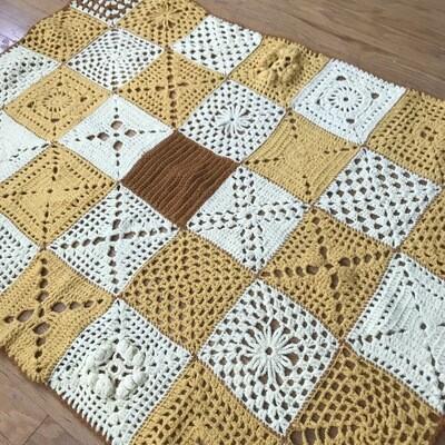 Yellow Afghan Blanket