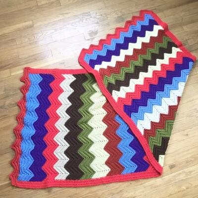 Long Afghan Throw Blanket
