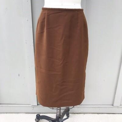 Vintage Brown Pencil Skirt