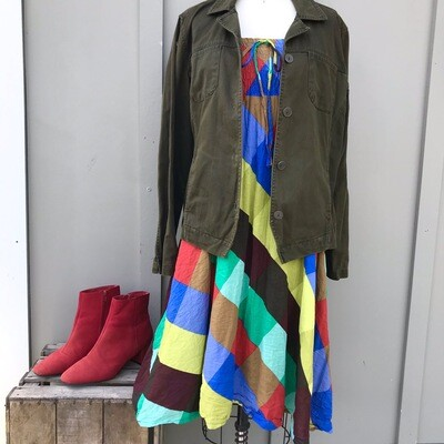 Color-Block Tube Dress