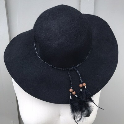 Black Floppy Hat (New With Tags)
