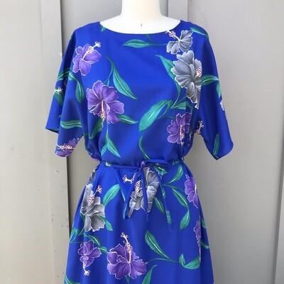 Hilo Hattie Vintage Hawaiian Hibiscus Dress
