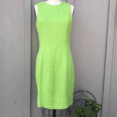 Lime Green Linen Bodycon Dress