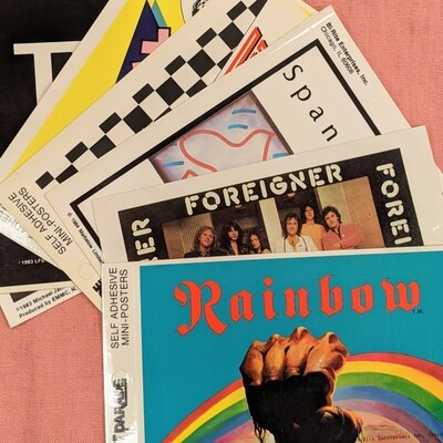 Vintage Deadstock Mini Band Poster Stickers
