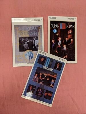 DURAN DURAN Vintage Deadstock Mini Band Poster Set of 3