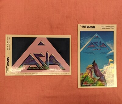 ASIA Vintage Deadstock Mini Band Poster Set of 2