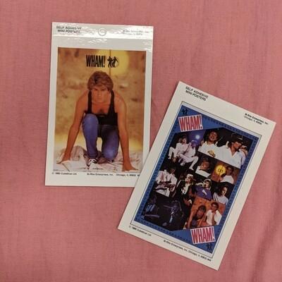 WHAM Vintage Deadstock Mini Band Poster Set of 2