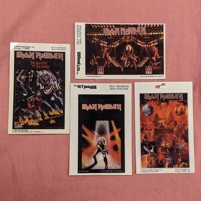 IRON MAIDEN Vintage Deadstock Mini Band Poster Set of 4