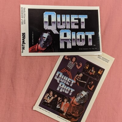 QUIET RIOT Vintage Deadstock Mini Band Poster Set of 2