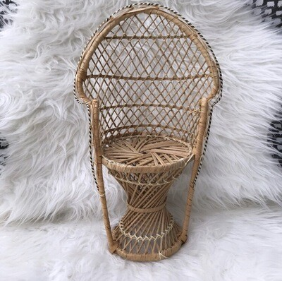 Small Wicker Decorative Chair/Plant Stand