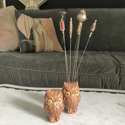 Owl Hat Pin Holders | Set of 2