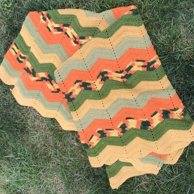 Large Fall Colored Afghan