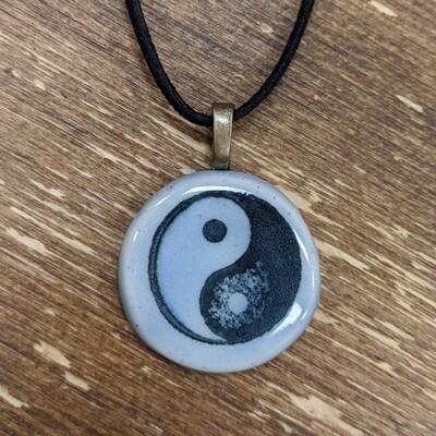 Handmade Ceramic Yin Yang Necklace