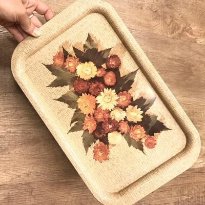 Vintage Floral Tin Tray