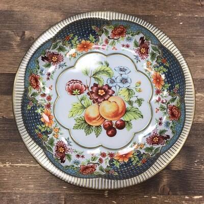 Round Vintage Tin Bowl