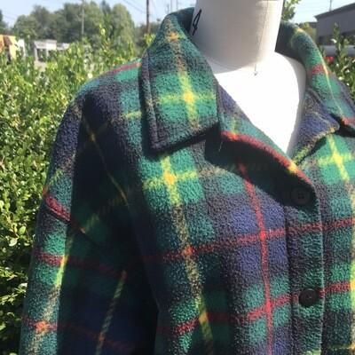Fleece Tartan Jacket