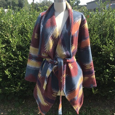 Southwestern Coat W/ Tie