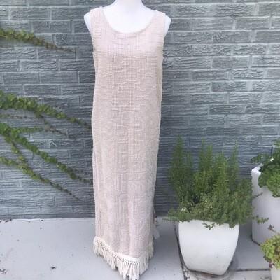 Cotton Chenille Fringe Dress