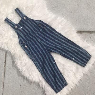 Vintage Kids Lee Striped Overalls
