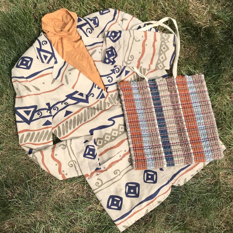 Vintage Patterned Blazer