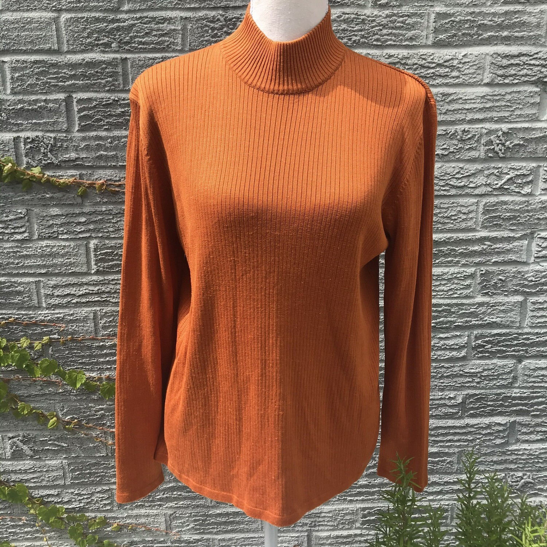 Pumpkin Orange Turtleneck
