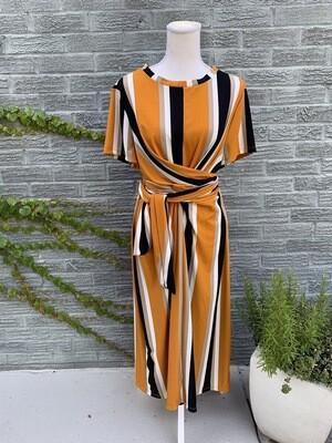 Striped Yellow & Black Dress