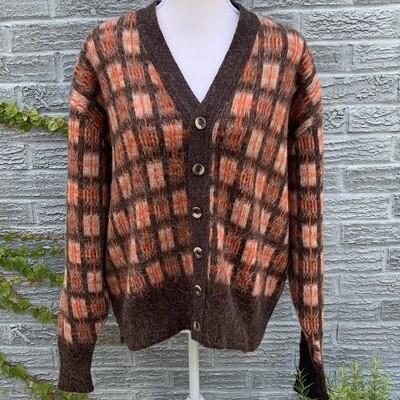 Vintage Plaid Mohair Sweater