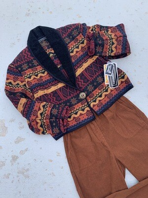 Cotton Tapestry Cropped Blazer (NWT)