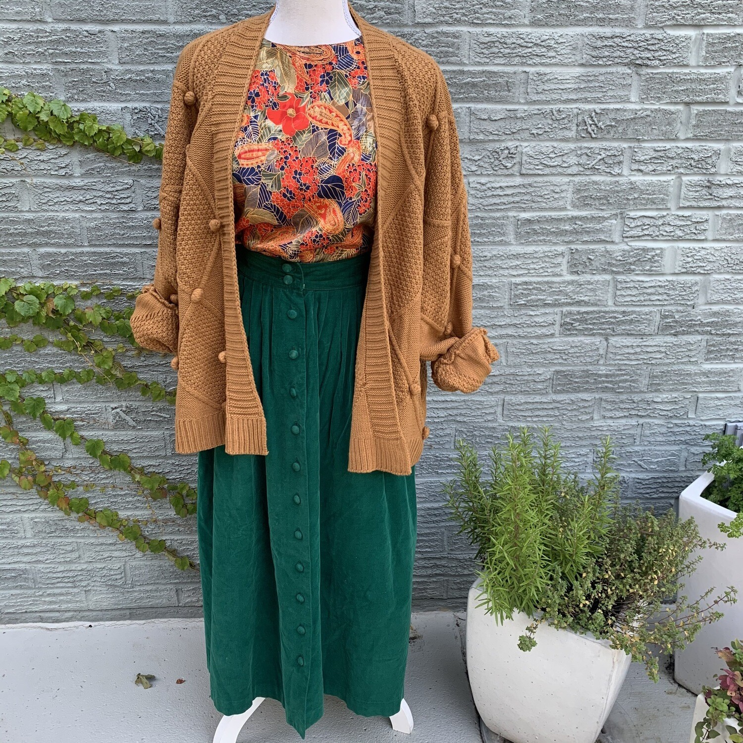 Cable Knit Sweater W/ Puff Balls