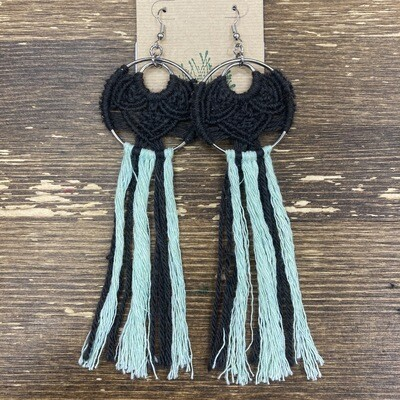 Handmade Macrame Dangle Earrings