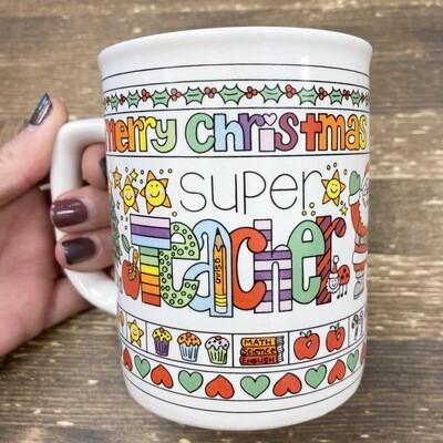 Vintage Super Teacher Mug