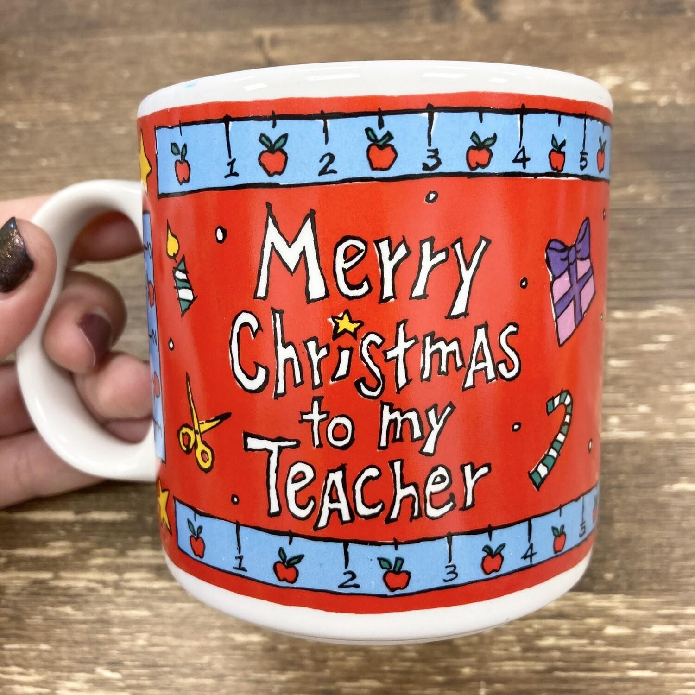 Vintage Christmas Teacher Mug