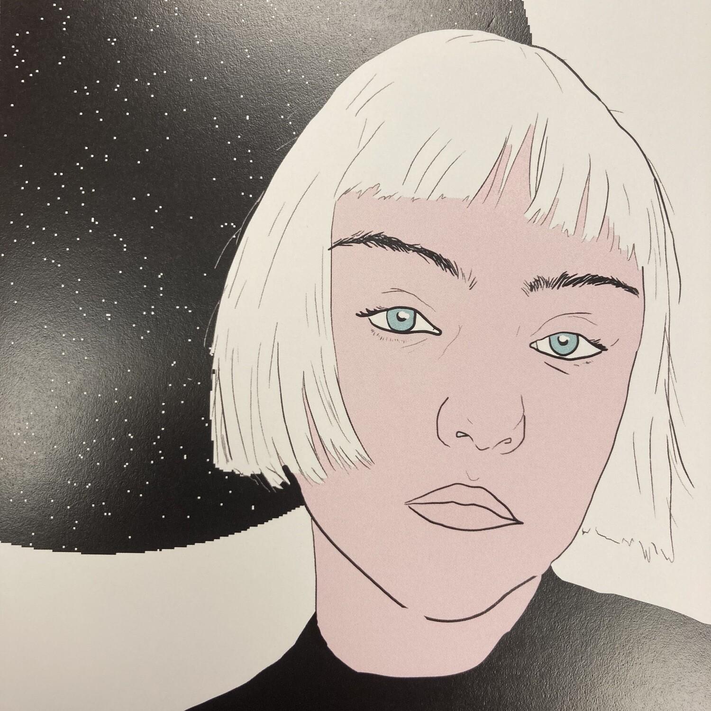 Space Girl Print By Alex Fraga