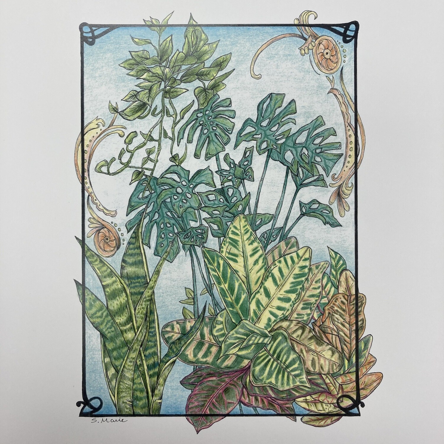 Plant Print By Nuanced Earth Art